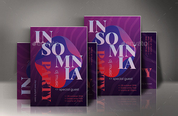 Insomnia Party PSD Poster Template
