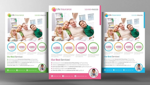 free insurance flyer template  25  Insurance Flyer Templates - Free