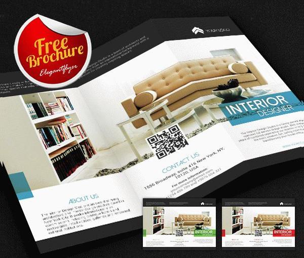 Interior Designer Free Tri-Fold Brochure