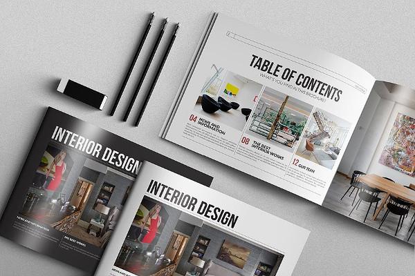 Fully Editable Interior Design Brochure Template