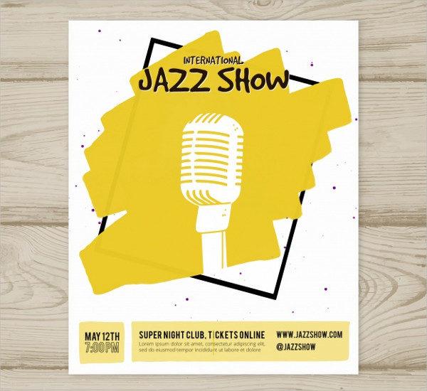 International Jazz Show Poster Free Download