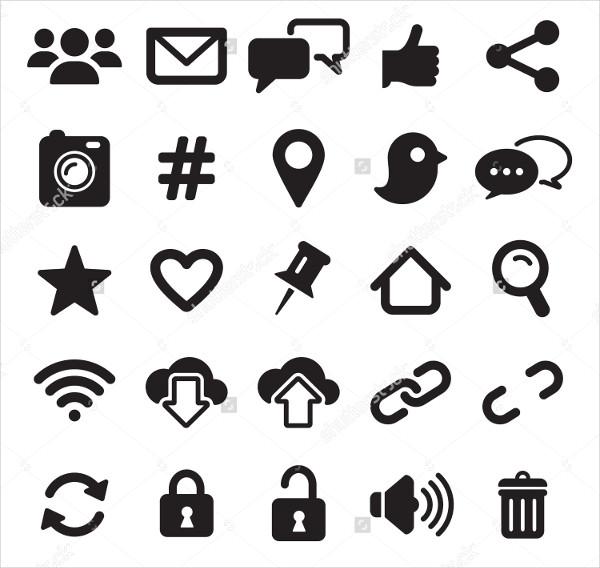 Social Media Illustration Icons