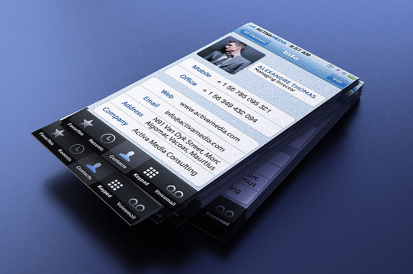 Easy to Edit iPhone Business Cards