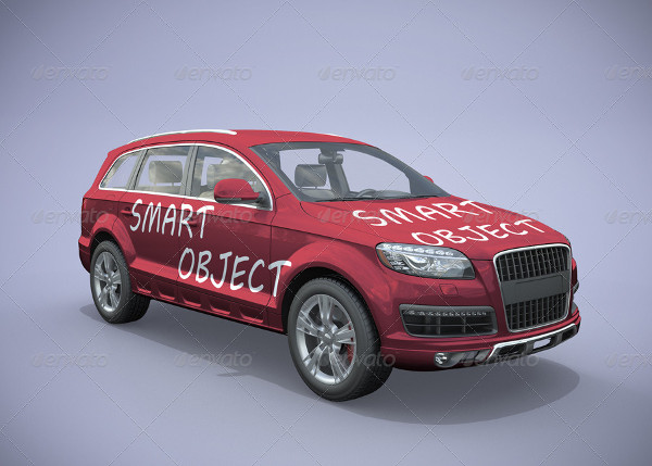Isolated Mockup of Car