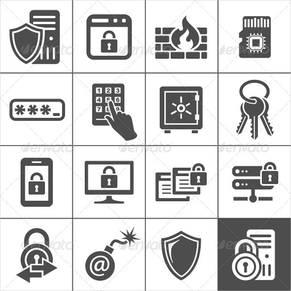 IT Security Services Icons