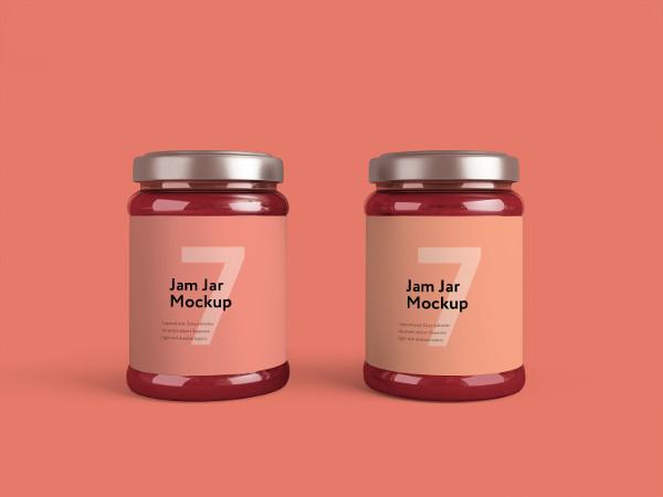 Jam Jars Mockup Design