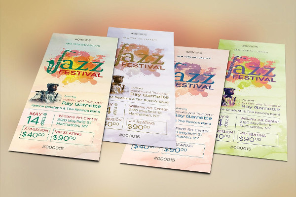 Perfect Jazz Event Ticket Template