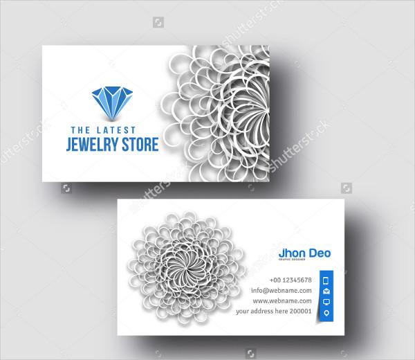 Latest Jewelry Shop Business Card