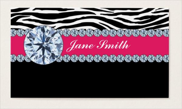 Jewelry Zebra Print Business Card