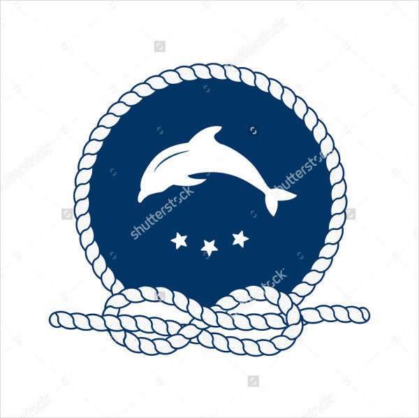 Jumping Dolphin Badge for Sea