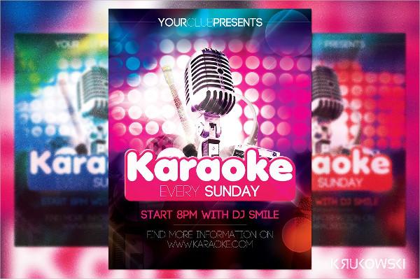 Karaoke In Club Flyer Template