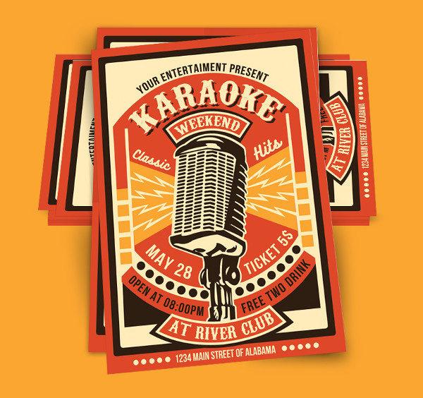 Karaoke Party Weekend Poster