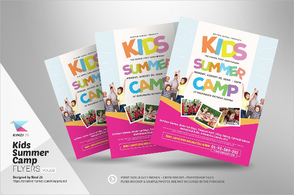 Perfect Kids Summer Camp Event Flyer Templates