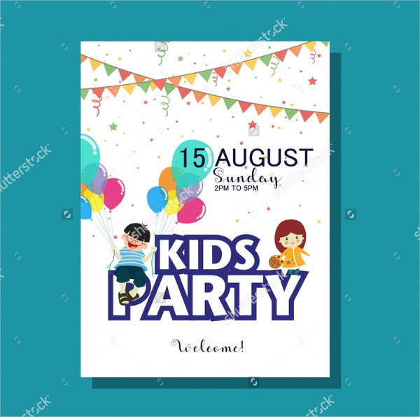 Kids Festival Party Colorful Flyer
