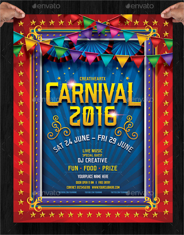 Kids Carnival Party Flyer Template