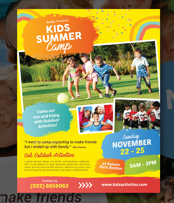 Kids Summer Camp Promotion Flyer
