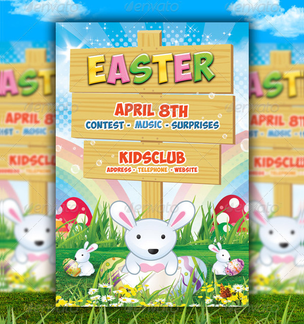 Kids Easter Party Flyer Template