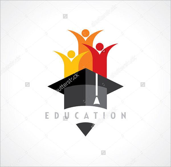 Happy Kids Education Concept Logo