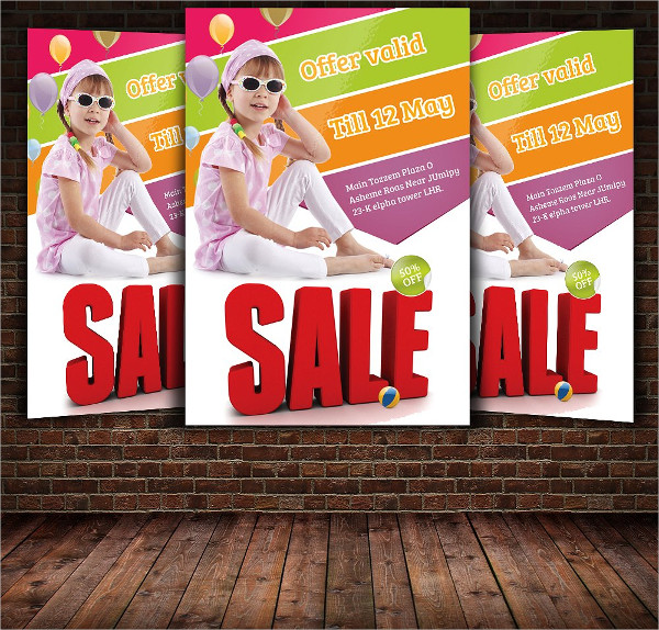 Kids Festival Sales Flyer Template
