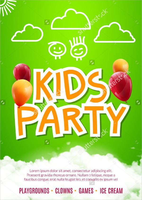Kids Party Art Flyer Design