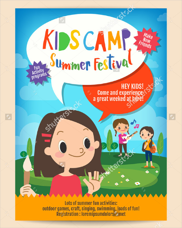 Kids Summer Camp Education Advertising Flyer