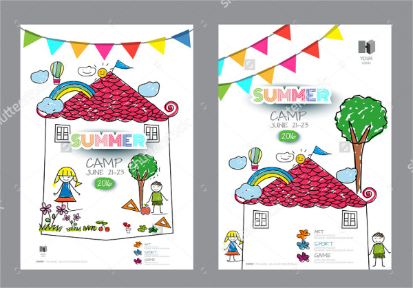 Kids Summer Camp Design Flyer Template