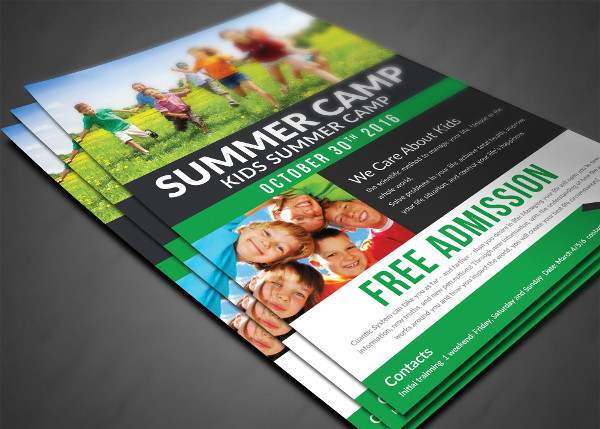 Kids Summer Camp Advertising Flyer Design