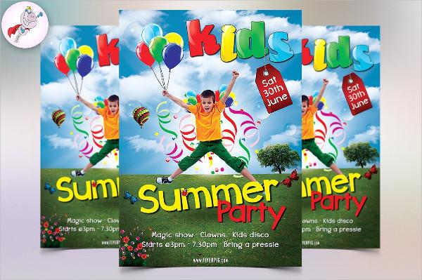 Kids Summer Party Flyer Template