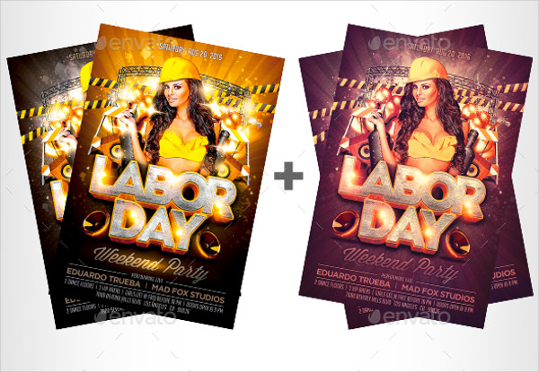 Labor Day Weekend Party Flyers