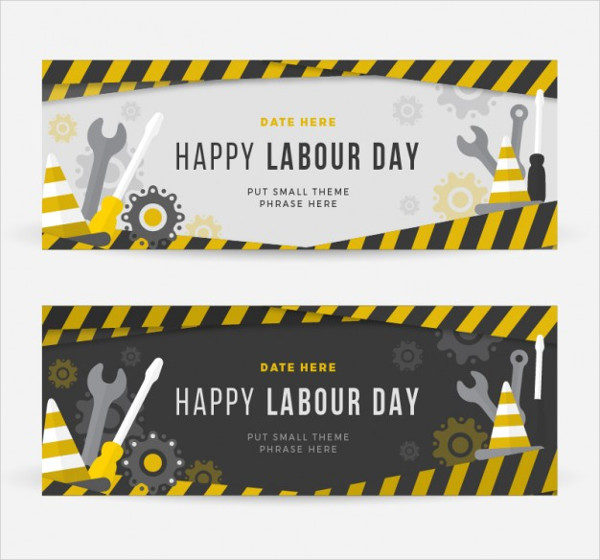 Construction Banners of Labors Day Free