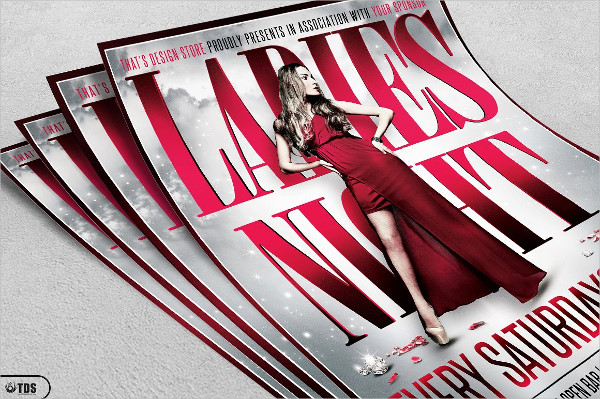 Editable Ladies Night Party Flyer Template