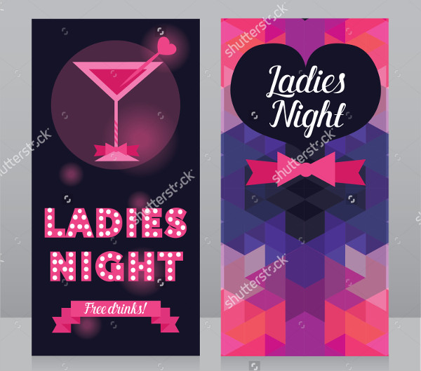 Ladies Night Party Invitation Flyer Template