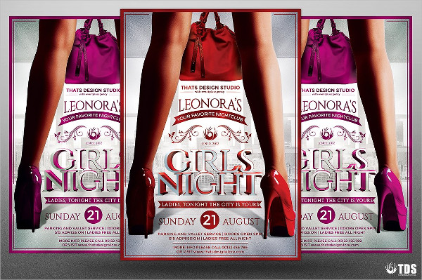 Ladies Night Party Printable Flyer Template