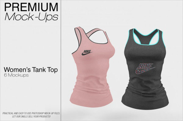 Ladies Tank Top Mockups Pack