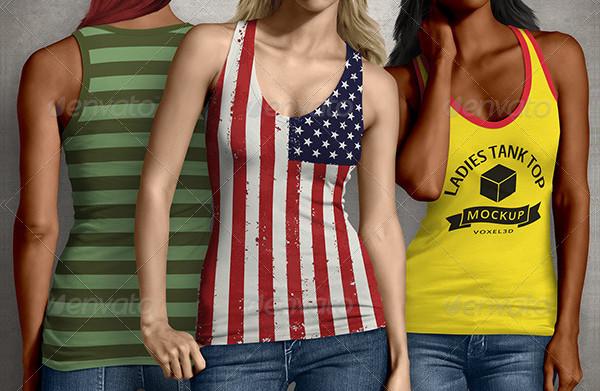 Ladies Tank Top Mockup PSD