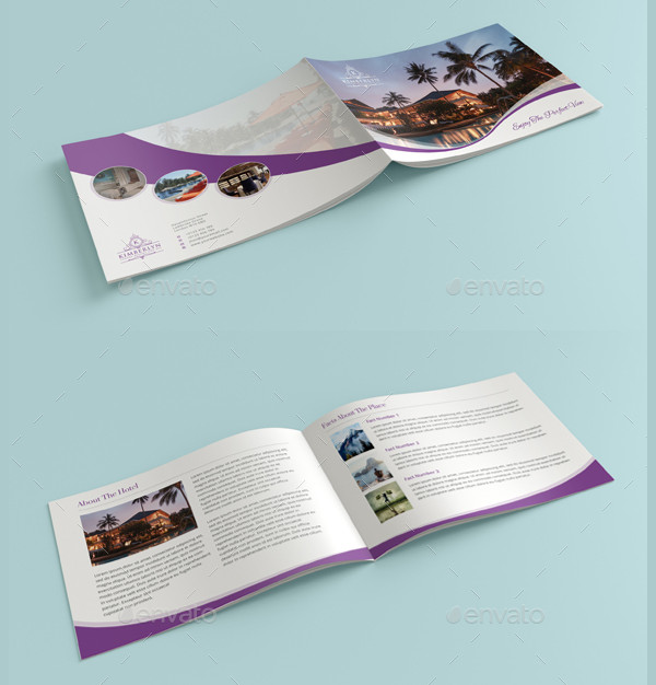 Landscape Hotel Brochure Template