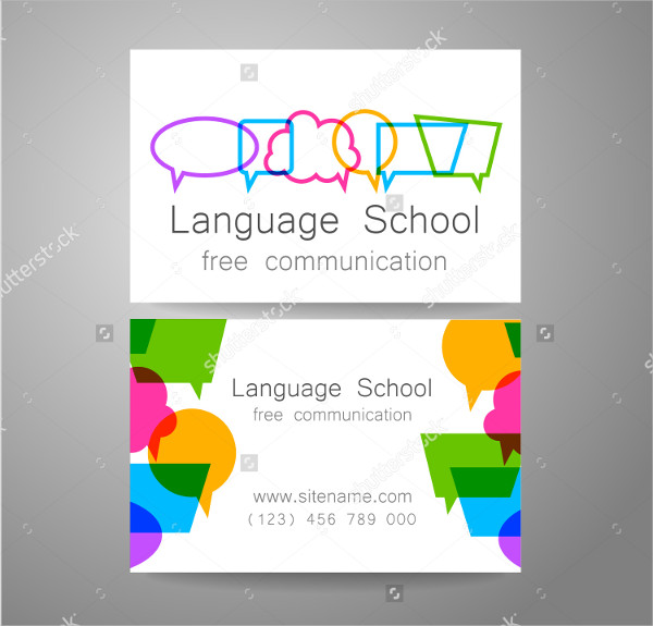 School Principal Visiting Card Design