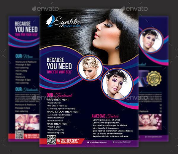 Latest Spa U0026 Beauty Salon Flyer Template