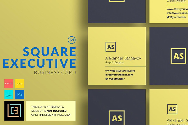 Square Lawyer Business Card Template