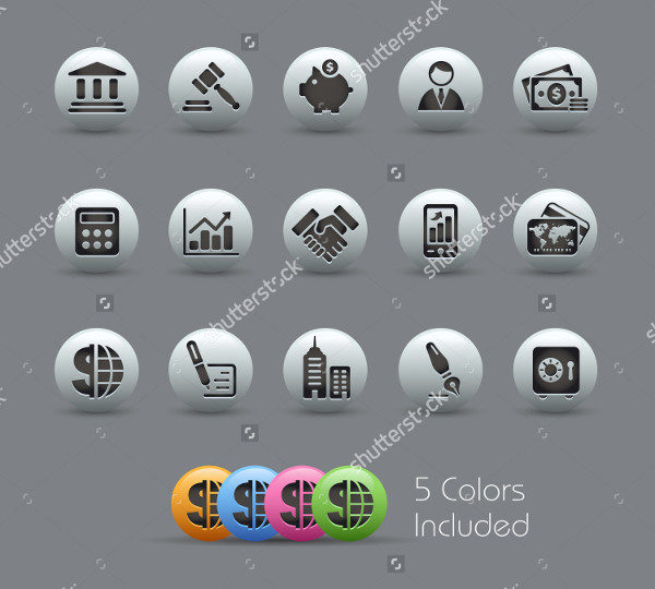 Colorful Icons for Finance
