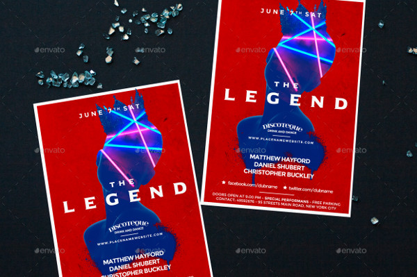 Legend Club Minimal Flyer Template