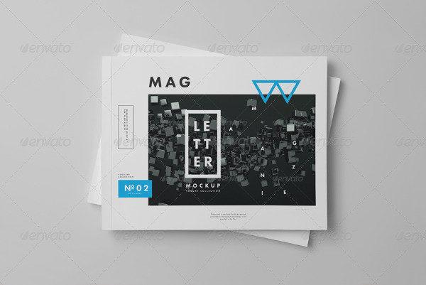 Horizontal Letter Magazine Brochure