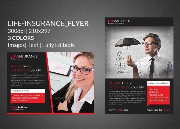 Life Insurance Print Flyer Templates