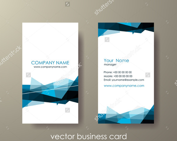 Light Vertical Abstract Business Card