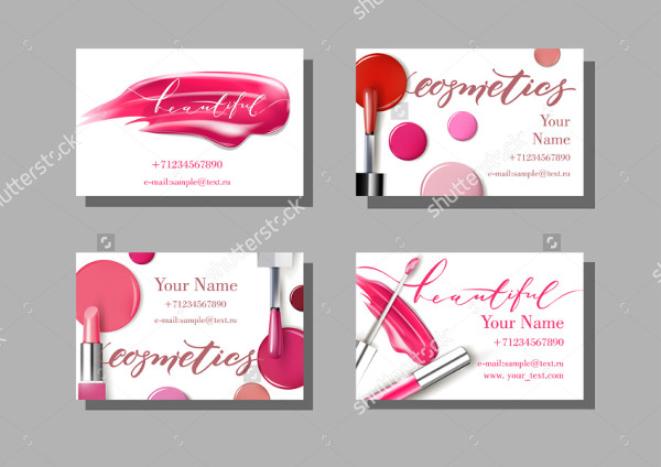 Cosmetics Artist Business Card Templates