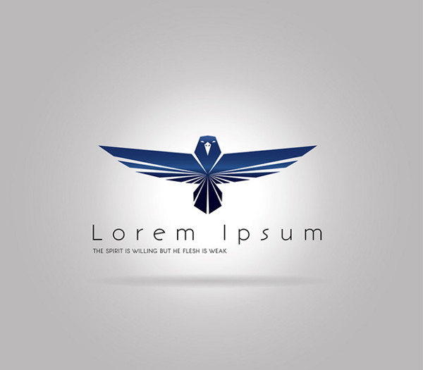 Logo Template with Blue Eagle Free