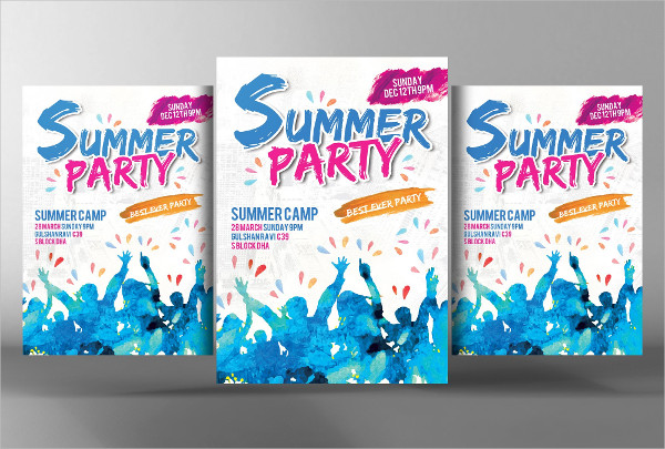 Tropic Summer Party Flyer Template