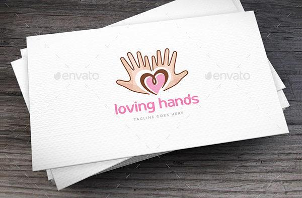 Loving Hands Stylish Logo Template