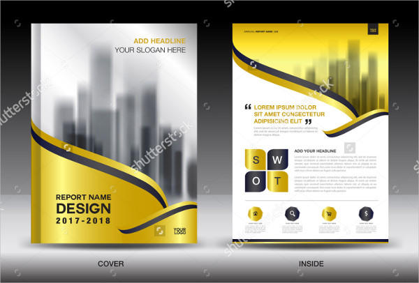 Gold Color Annual Report Brochure