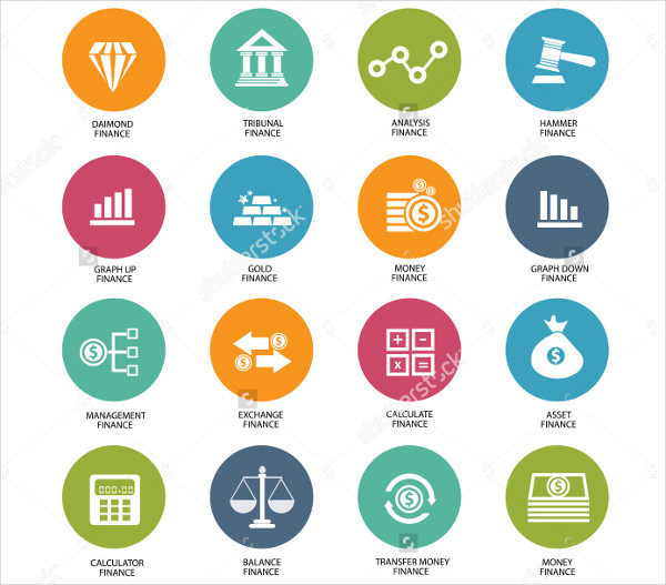 Finance Management Icons Vector